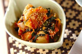 水きり豆腐とキムチの炒め物