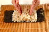 くまさんデコ巻き寿司の作り方3