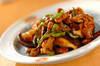 シイタケの炒め物の作り方の手順