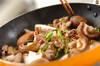 シイタケの炒め物の作り方の手順4