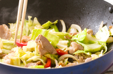 豚肉と野菜のみそ炒めの作り方2