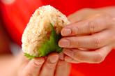 梅しそおにぎりの作り方3