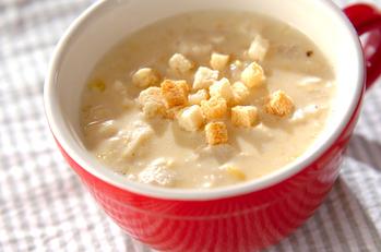 エノキのコーンスープ