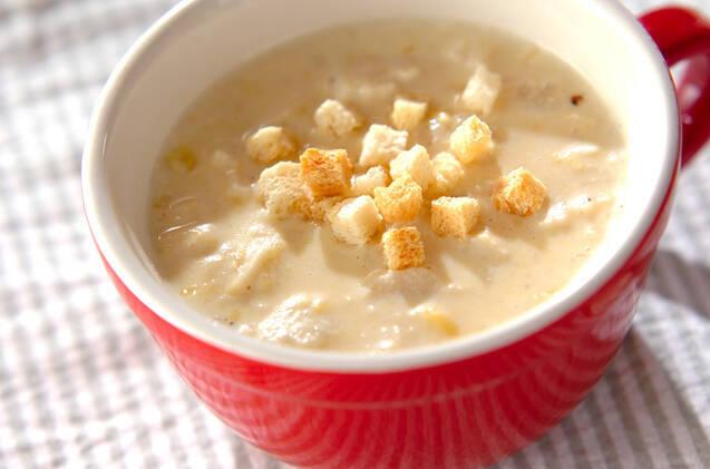 コーンクリームでえのきのクリープスープ