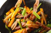 豚肉と柿の炒め物の作り方2