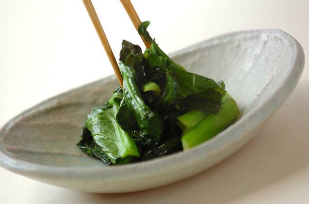 小松菜の炒め物の作り方の手順3