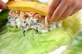 キャベツのご飯ロールの作り方1