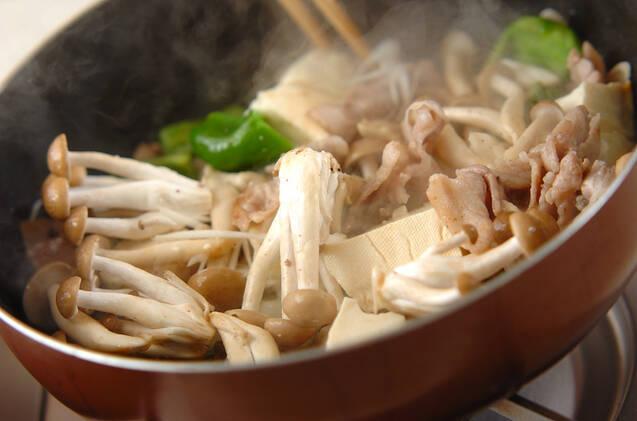 豚肉とシメジの甜麺醤炒めの作り方の手順8