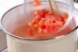 トマトの卵スープの作り方1