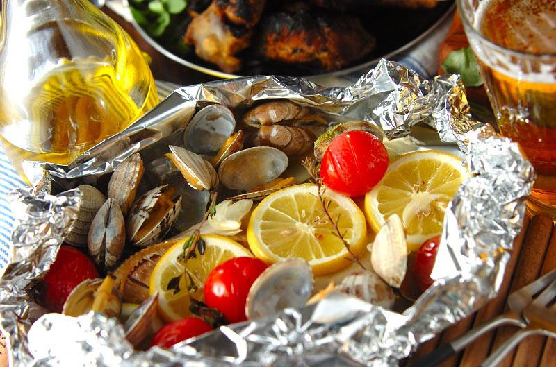 干物でアクアパッツァの料理写真