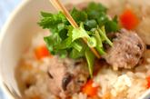 肉団子の炊き込みご飯の作り方3