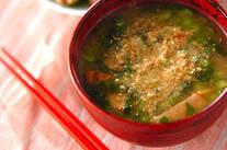 小松菜のゴマみそ汁