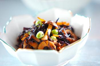 芽ヒジキとちくわの煮物