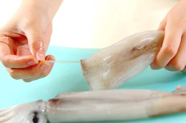 イカとキャベツの焼き肉ダレ炒めの作り方の手順1