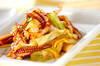 イカとキャベツの焼き肉ダレ炒めの作り方の手順