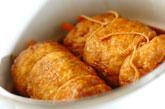 お揚げの鶏ひき肉ロール煮の作り方3