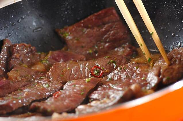 エスニック風カルビ丼の作り方の手順8