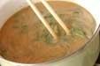 納豆オクラのみそ汁の作り方2
