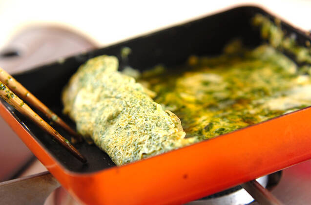 アオサ入り卵焼きの作り方の手順2