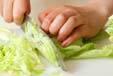 レタスと野菜のスープの下準備1
