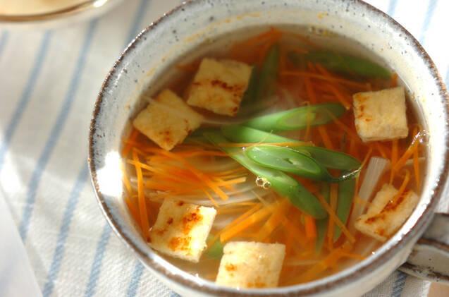 油揚げと野菜のスープ