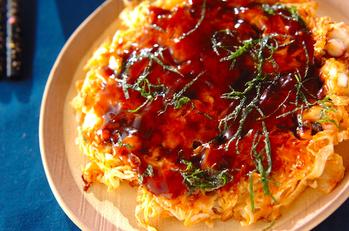 キムチとタコのお好み焼き