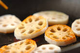 焼きレンコンのネギオイルがけの作り方4