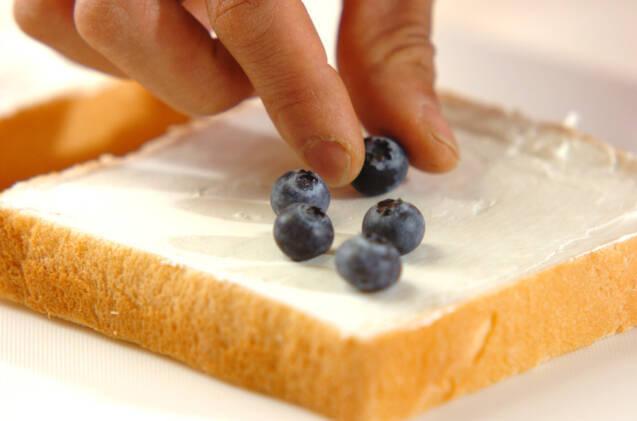 サワーベリートーストの作り方の手順1