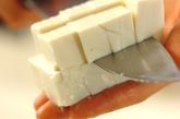 豆腐のとろみ汁の下準備1