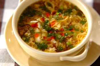もずくのサンラータン風スープ