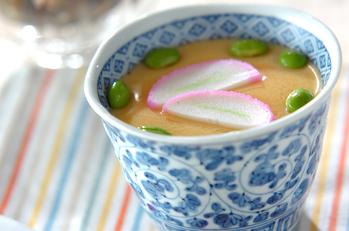 枝豆入り冷製茶碗蒸し