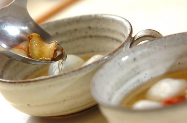 白玉団子のショウガシロップがけの作り方の手順4