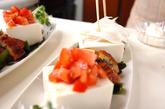 お豆腐のサラダの作り方1