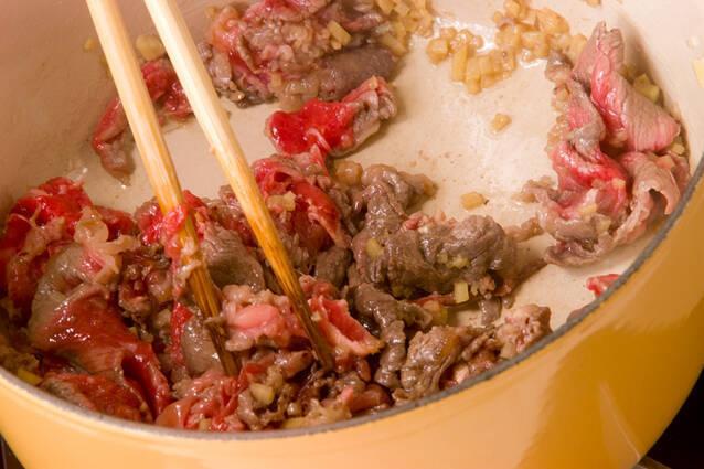 牛肉とジャガイモの炒め煮の作り方の手順8