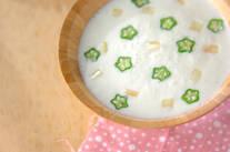 ヨーグルトピーチスープ