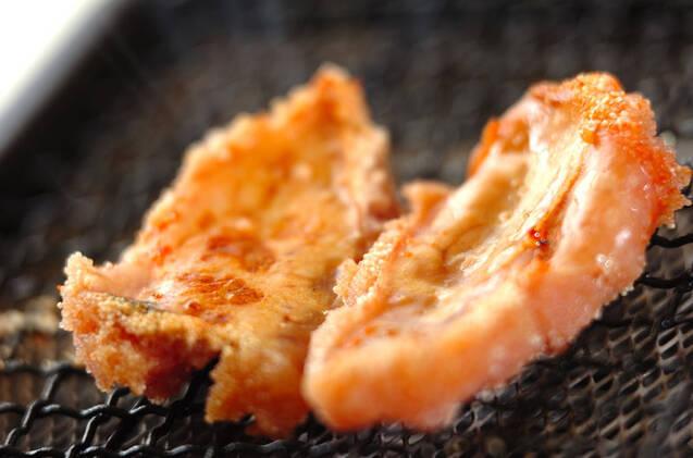 お茶漬けパスタの焼きタラコのせの作り方の手順1