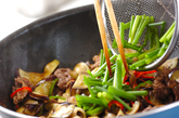 ナスと牛肉のゴマ炒めの作り方2