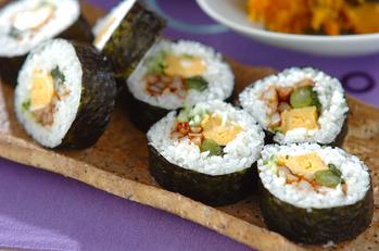 野沢菜の巻き寿司