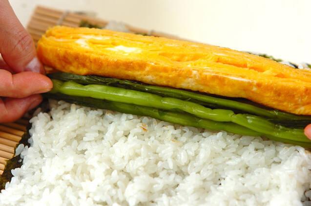 野沢菜の巻き寿司の作り方の手順6