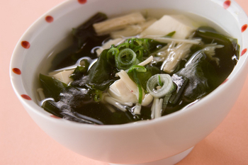 豆腐とエノキのスープ