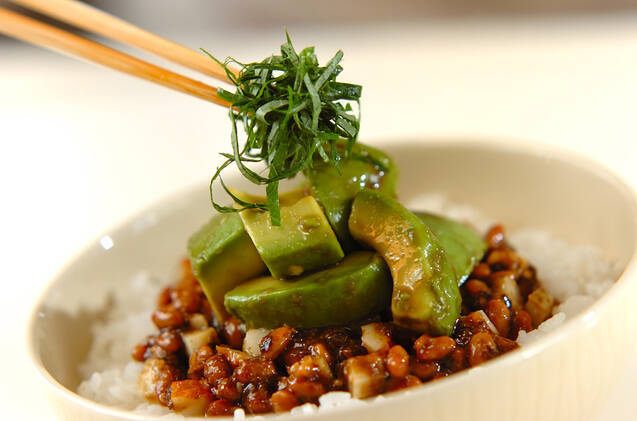 のり納豆とアボカドのご飯の作り方の手順3