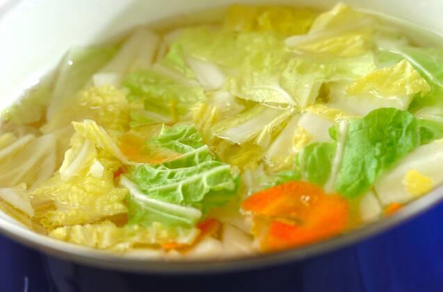 白菜のからし和えの作り方の手順4