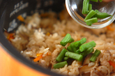 里芋入りかやくご飯の作り方3