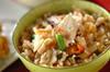 里芋入りかやくご飯の作り方の手順