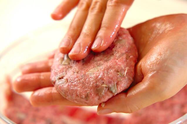 マイタケ入りハンバーグの作り方の手順3