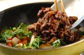 里芋と牛肉の炒め物の作り方3