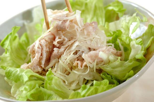 塩麹豚しゃぶのオニオンサラダの作り方の手順4