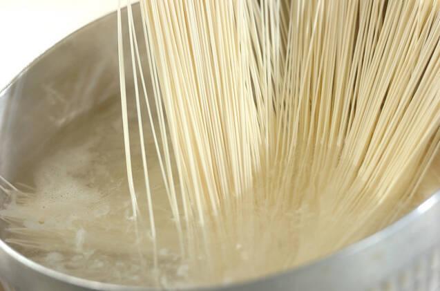 ガスパチョ素麺の作り方の手順2