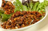 ひき肉納豆炒めの作り方3