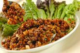ひき肉納豆炒めの作り方9
